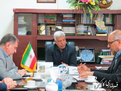 رئیس و کارکنان بنیاد شهید با فرماندار گالیکش دیدار و ملاقات کردند