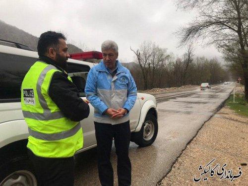 بازدید فرماندار گالیکش از جادههای مواصلاتی شهرستان
