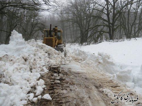 جاده ارتباطی روستای کندسکوه شهرستان گالیکش بازگشایی شد