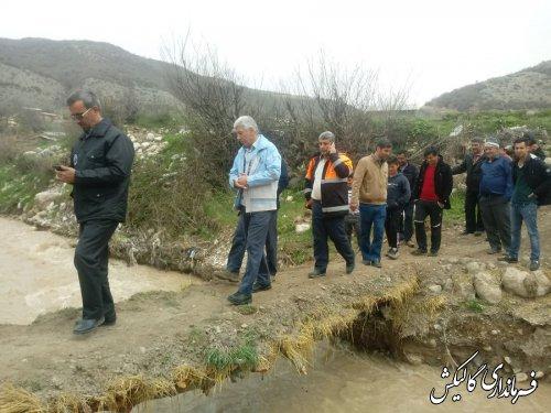 بخشی از آب سد حسین آباد کالپوش رهاسازی شد