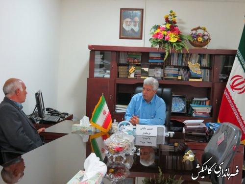 ملاقات عمومی فرماندار گالیکش با مردم شهرستان انجام شد