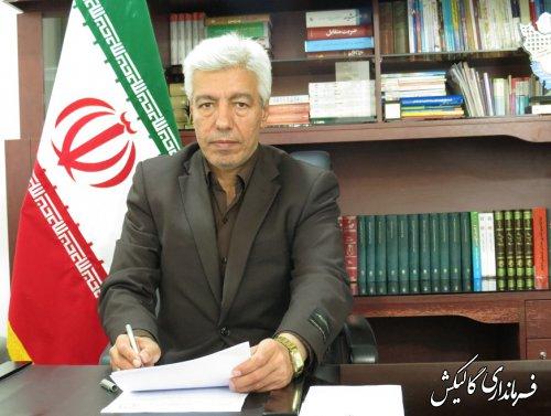 پیام تبریک فرماندار شهرستان گالیکش به مناسبت روز ملی شوراها؛