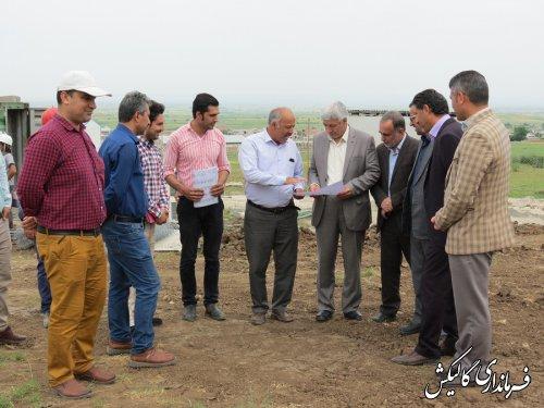بازدید فرماندار گالیکش از عملیات احداث بیمارستان ۹۱ تختخوابی شهرستان