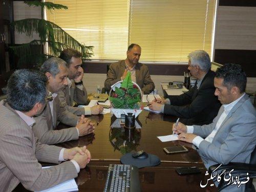 دیدار فرماندار گالیکش با مدیرعامل شرکت توزیع نیروی برق گلستان