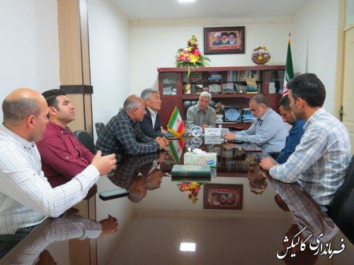 دیدار اعضای شورای اسلامی شهر صادقآباد با فرماندار گالیکش
