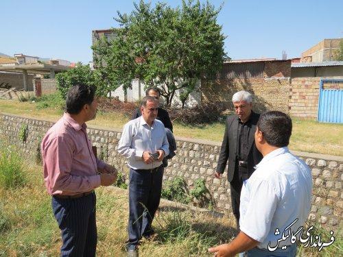 بازدید میدانی فرماندار گالیکش از محل اجرای طرح جمعآوری آبهای سطحی شهر