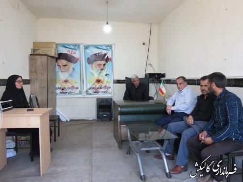 """جلسه """"میز خدمت"""" در روستای سرچشمه شهرستان گالیکش برگزار میگردد"""