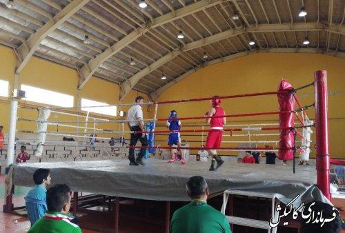 اختتامیه مسابقات بوکس چهارمین دوره المپیاد ورزشی گلستان به میزبانی گالیکش برگزار شد