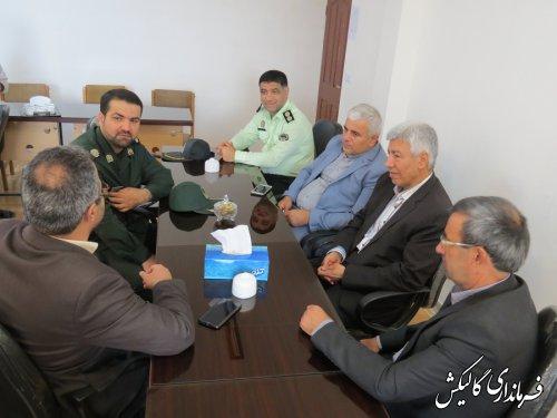 دیدار رئیس و اعضای شورای تأمین شهرستان گالیکش با رئیس دادگستری شهرستان