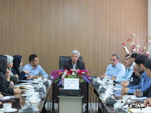 """جلسه هماهنگی اجرای طرح """"بانویار"""" در شهرستان گالیکش برگزار شد"""