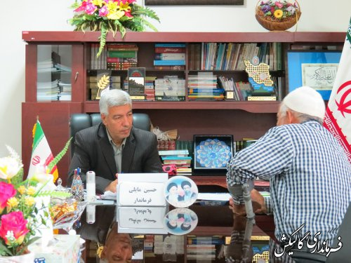 ملاقات عمومی فرماندار گالیکش با مردم شهرستان برگزار شد
