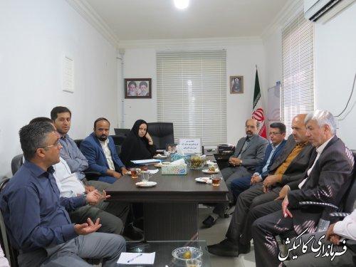 جلسه بررسی طرح هادی شهر جدید صادقآباد شهرستان گالیکش برگزار شد