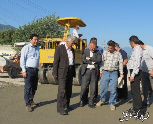 بازدید از وضعیت پروژههای عمرانی روستاهای شهرستان گالیکش