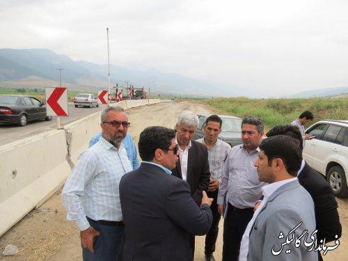 بازدید مشترک فرماندار و مدیرکل راهداری گلستان از محور ترانزیتی گالیکش-تنگراه