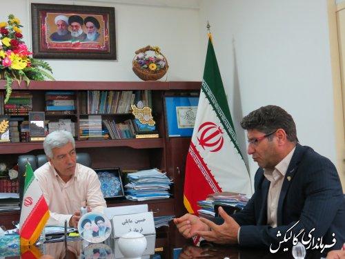 دیدار معاون اداره کل هواشناسي گلستان با فرماندار گالیکش