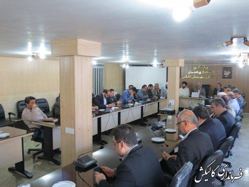 دیدار مدیران و مسئولین شهرستان گالیکش با فرماندار به مناسبت گرامیداشت هفته دولت