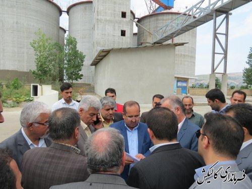 فاز اول سیلوی ذخیره گندم کارخانه آرد کوثر شهرستان گالیکش افتتاح شد