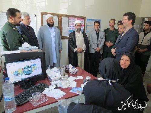 بازدید فرماندار شهرستان گالیکش از اردوی جهادی پزشکی در دهستان ینقاق