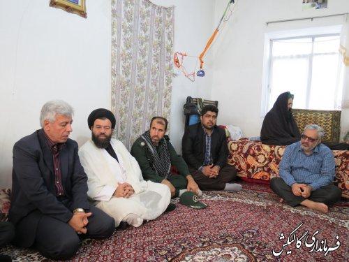 دیدار فرماندار گالیکش با خانواده معزز شهداء به مناسبت هفته دفاع مقدس