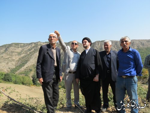 بازدید فرماندار گالیکش بهمراه دادستان عمومی از خسارات ناشی از سیل در دهستان نیلکوه