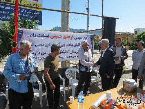 استقبال فرماندار گالیکش از کاروان پیاده زائران حرم امامرضا(ع)