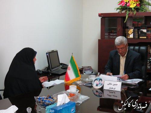 ملاقات مردمی فرماندار شهرستان گالیکش با شهروندان برگزار شد