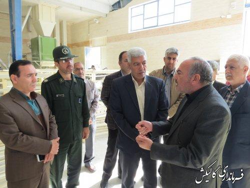 بازدید فرماندار گالیکش از کارخانههای آرد و نانوایی دوگانهسوز سطح شهرستان