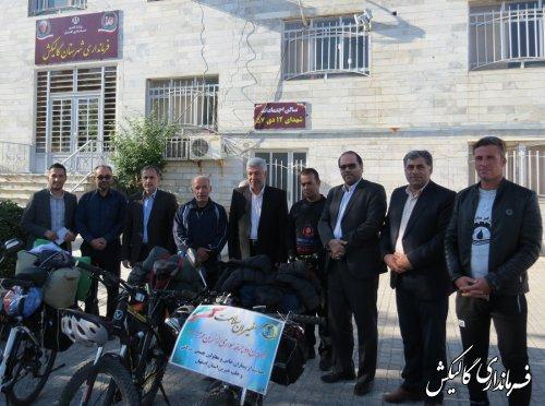 دوچرخهسواران سفیر سلامت وارد گالیکش شدند