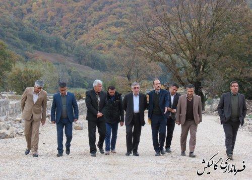 بازدید فرماندار گالیکش از روند اجرای پروژه شهرک گیاهان دارویی شهرستان