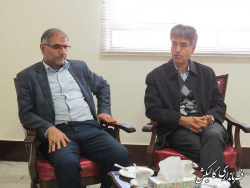 دیدار مدیرکل منابع طبیعی گلستان با فرماندار گالیکش