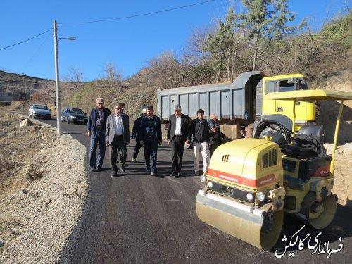 عملیات زیرسازی و آسفالت روستاهای قوشهچشمه و ترجنلی شهرستان گالیکش آغاز شد