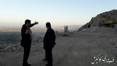 بازدید فرماندار گالیکش از کارخانه سیمان پیوند گلستان