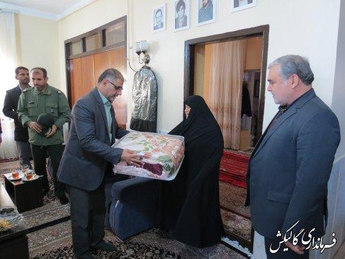 گلزار شهداي واقعه 12دي گالیکش عطرافشانی شد