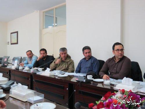 جلسه بررسی و رفع مشکلات رمپ کارخانه سیمان و کانال انتقال آب صادقآباد شهرستان گالیکش برگزار شد