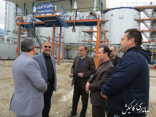 بازدید فرماندار گالیکش از واحدهای تولیدی ناحیه صنعتی گلستان