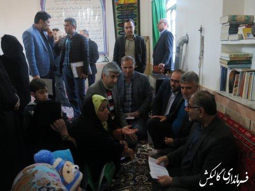 میز خدمت مسئولین شهرستان گالیکش در روستای آققمیش برگزار شد