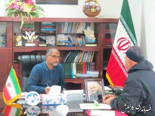 فرماندار شهرستان گالیکش با تعدادی از شهروندان دیدار و گفتگو کرد
