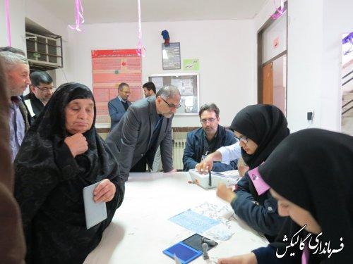 حضور چشم گیر مردم در پای صندوقهای اخذ رای در شهرستان گالیکش