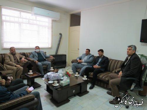 دیدار نماینده منتخب مردم شرق گلستان با فرماندار شهرستان گالیکش