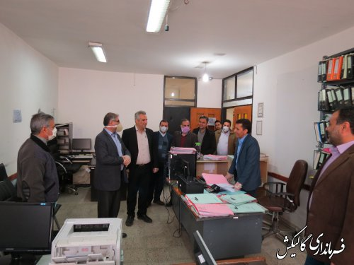 بازدید فرماندار شهرستان گالیکش از شهرداری این شهر؛