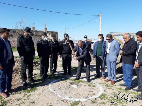 عملیات اجرایی پاسگاه انتظامی روستای ینقاق شهرستان گالیکش آغاز شد