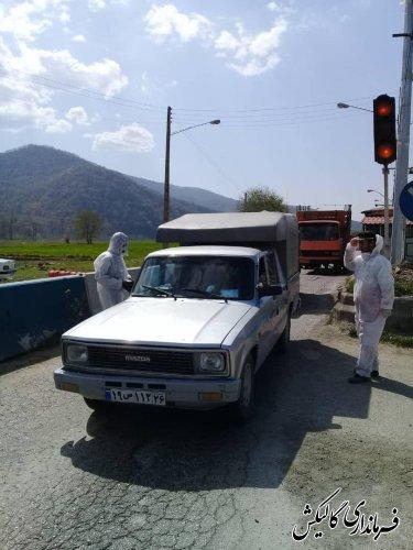 اجرای طرح پایش و تست غربالگری کرونا در ورودی شرق گلستان
