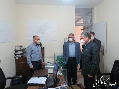 بازدید معاون سیاسی استاندار گلستان از فرمانداری گالیکش در خصوص اقدامات مقابله با کرونا