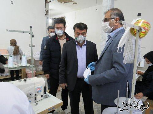 روزانه بیش از پنج هزار ماسک در شهرستان گالیکش تولید و عرضه میگردد