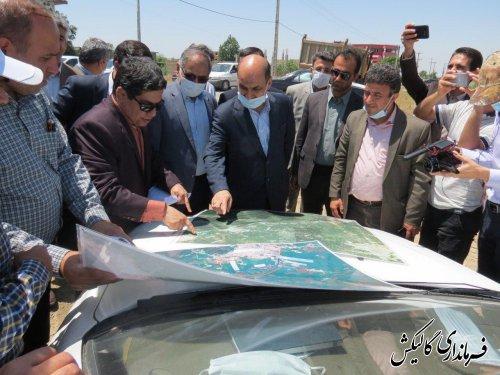 بازدید استاندار گلستان از  وضعیت پروژههای عمرانی و زیرساختی گالیکش