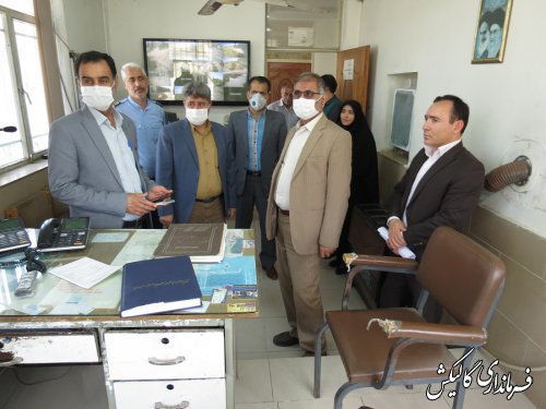 بازدید سرزده فرماندار گالیکش از مراکز خرید گندم شهرستان