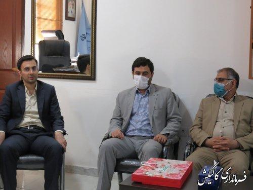 دیدار فرماندار گالیکش با رئیس دادگستری و دادستان شهرستان