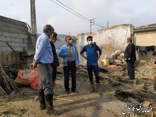 بازدید فرماندار گالیکش از وضعیت روستاهای سیلزده بخش لوه