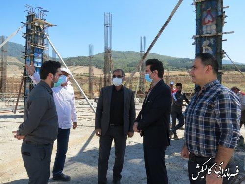 بازدید فرماندار گالیکش از روند اجرای پروژه احداث بیمارستان ۹۶ تختخوابی گالیکش