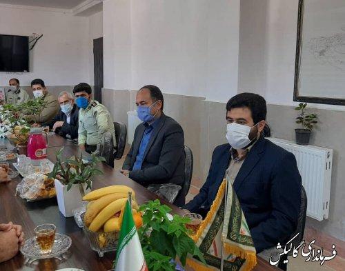 دیدار رئیس و اعضای شورای تأمین گالیکش با فرمانده و پرسنل انتظامی شهرستان
